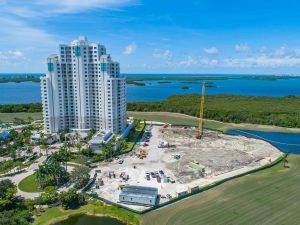 Omega Building aerial view at Bonita Bay Naples